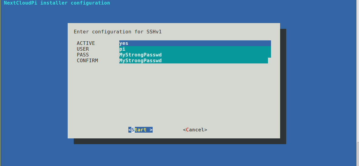 Enable SSH yes screenshot