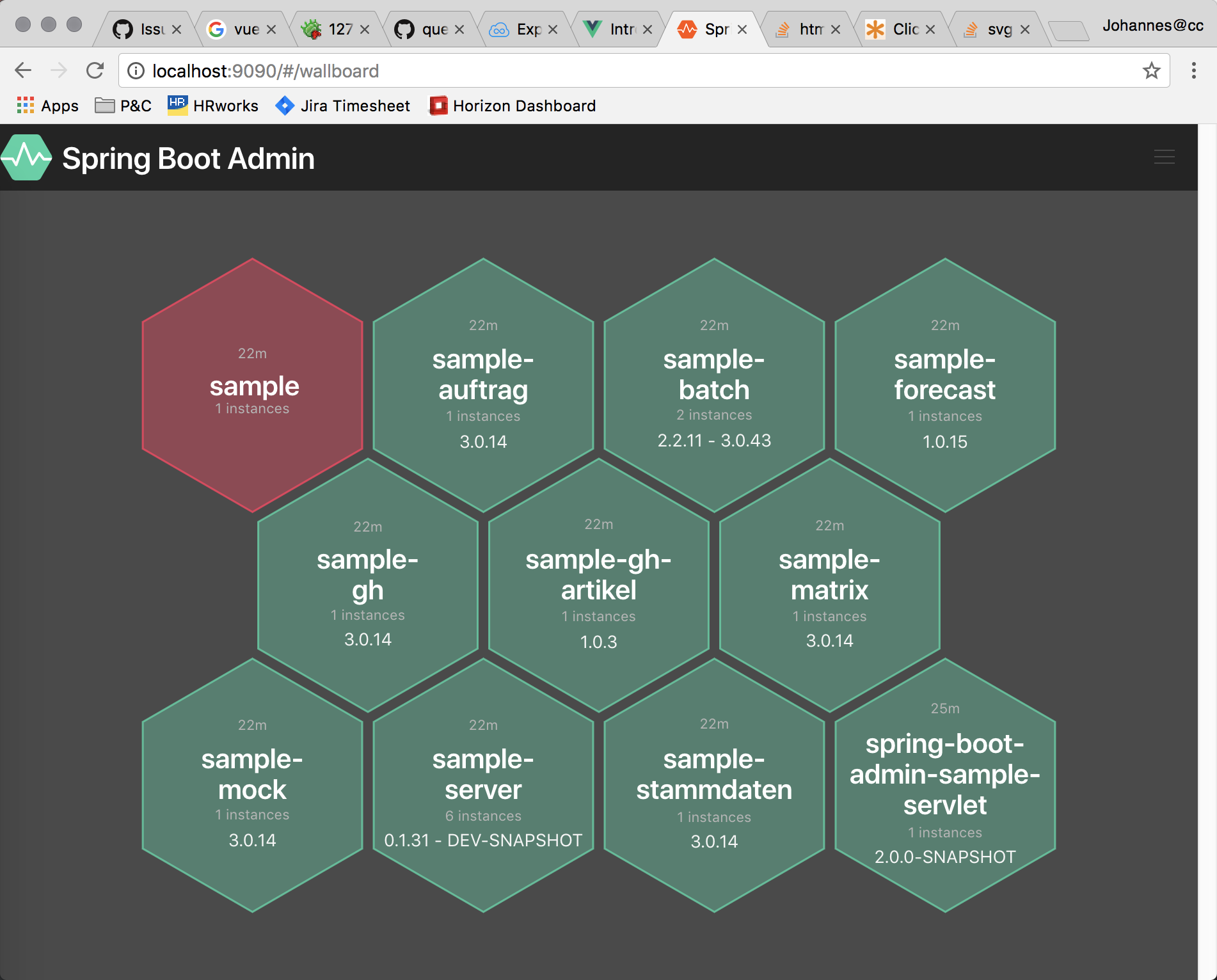 Wallboard view · Issue #313 · codecentric/spring-boot-admin