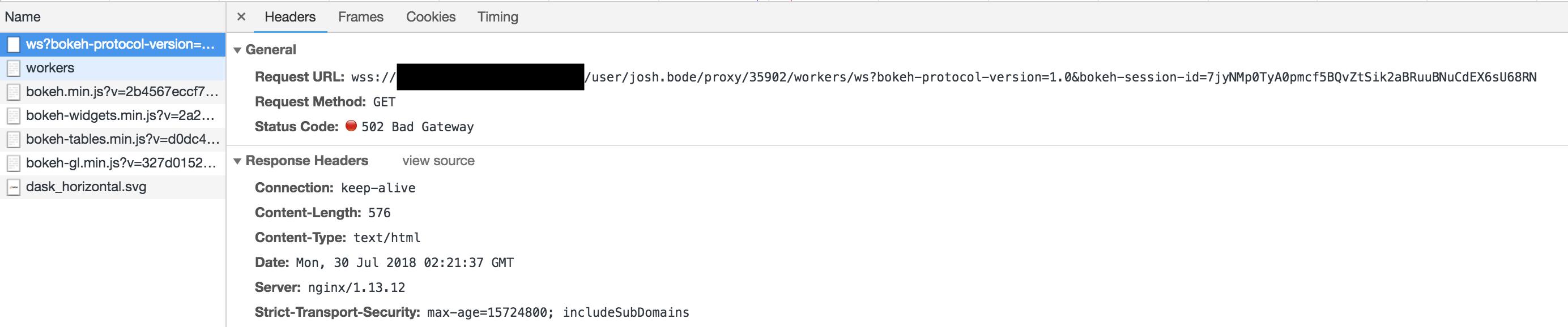 502 During Web Socket Handshake · Issue #39 · jupyterhub