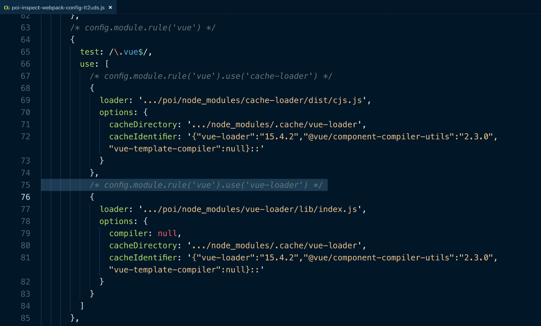 inspect webpack example