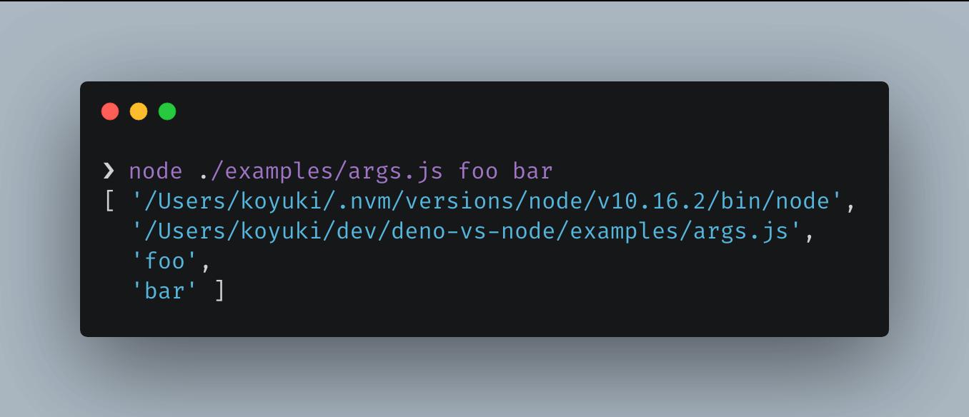 run node example