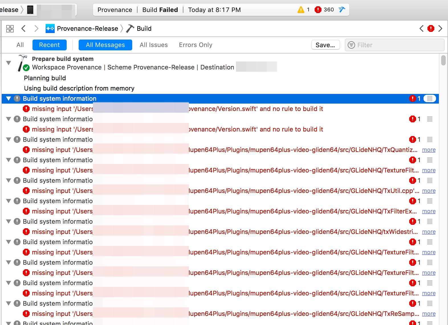 Build error in Xcode · Issue #994 · Provenance-Emu