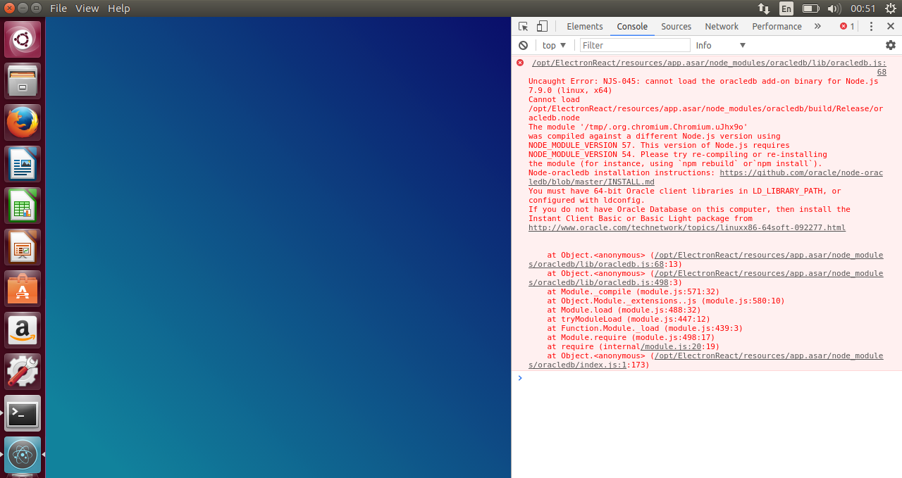 was compiled against a different node js version using