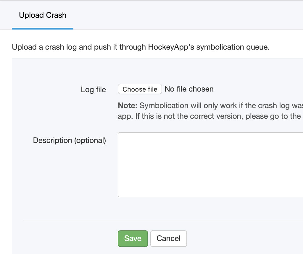 Ability to manually upload iOS crash reports · Issue #289