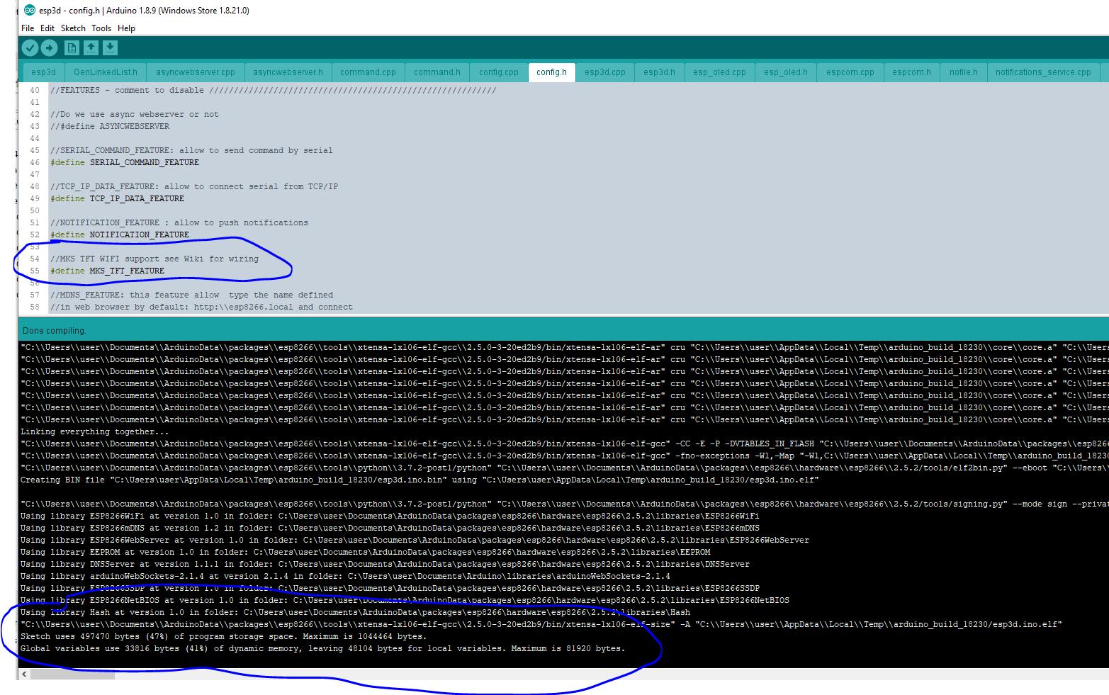 Compile error PAGE_NOFILES esp8266