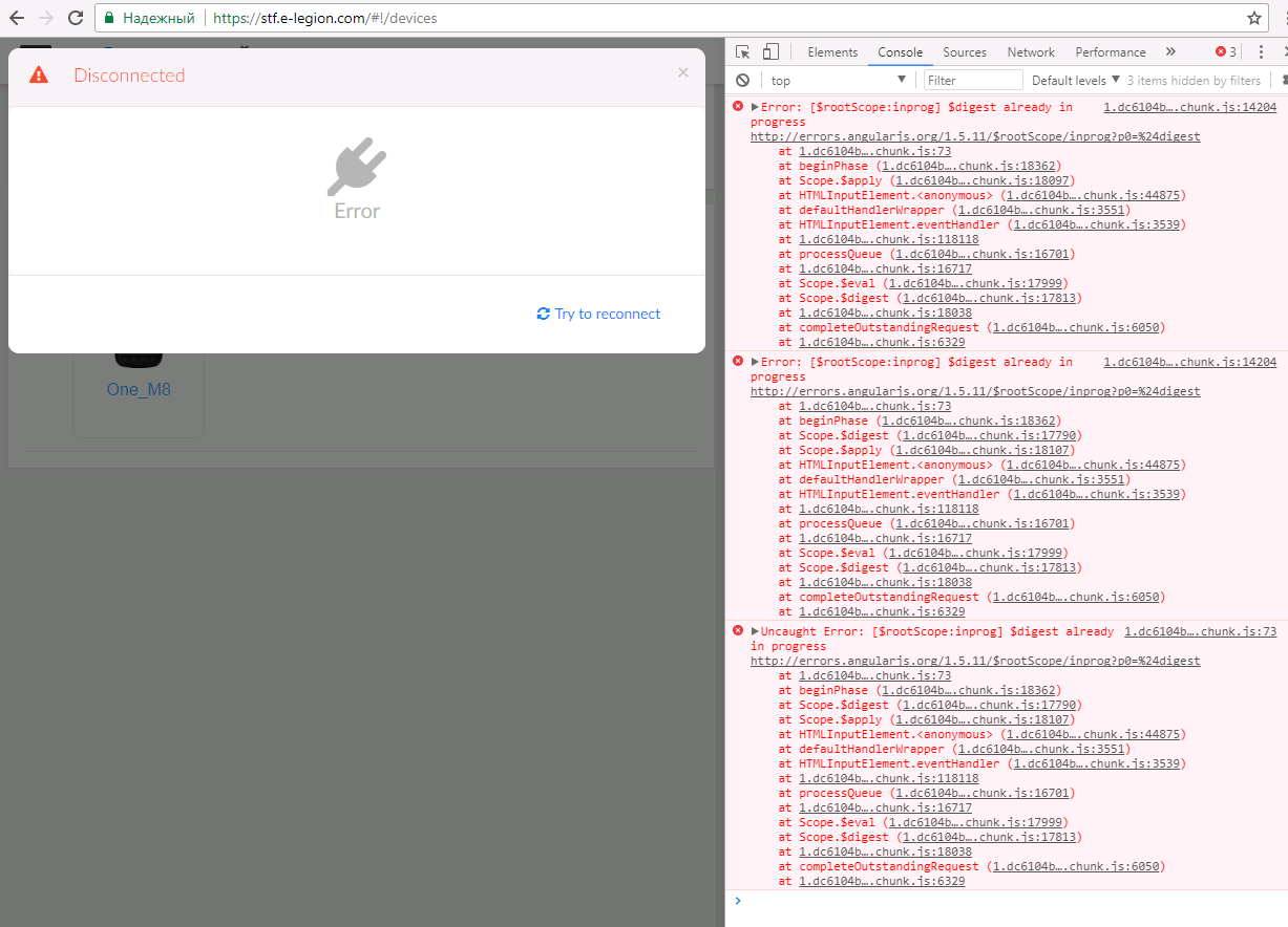 Pop-up Disconnected appears  · Issue #759 · openstf/stf · GitHub