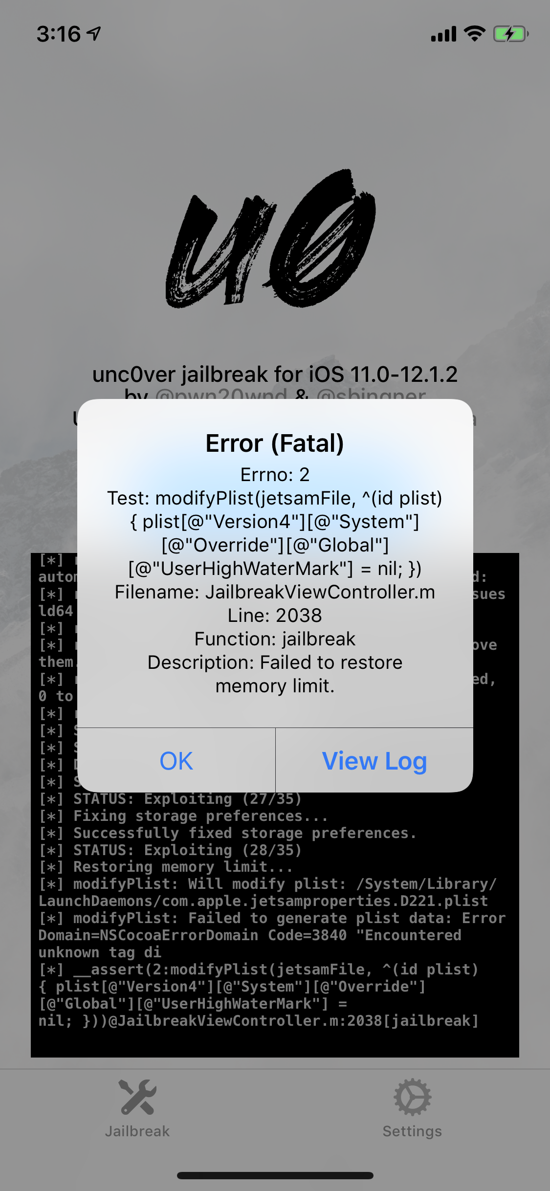 Fatal Error: Failed to Restore Memory Limit · Issue #1009