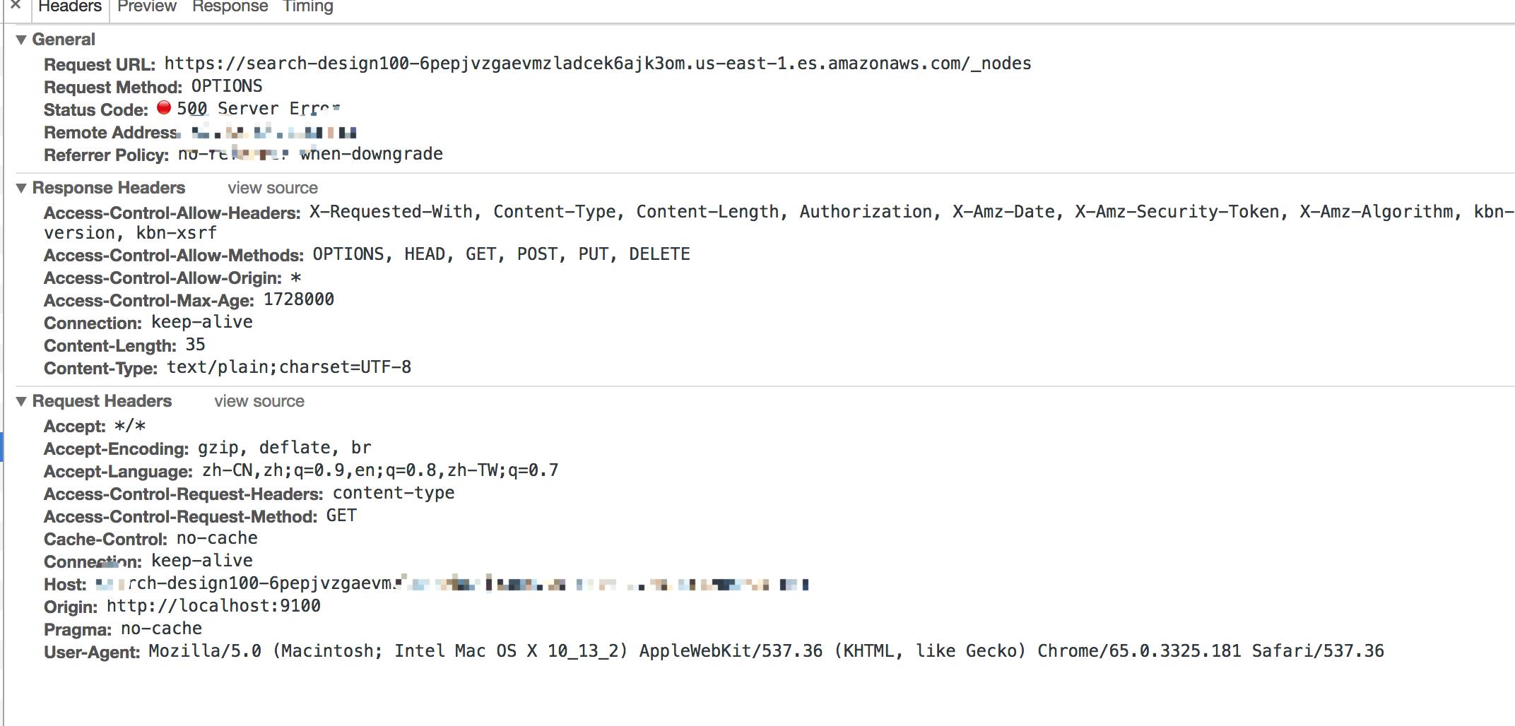 use AWS elasticsearch service got 500 error · Issue #390