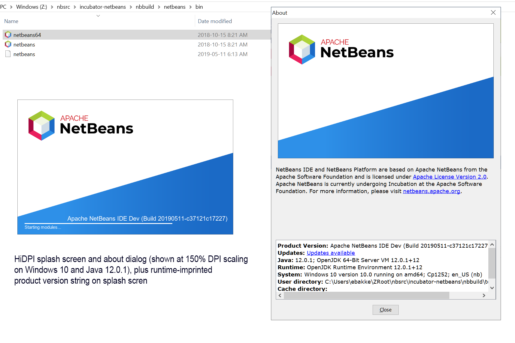 Splash Screen HiDPI and Product Version