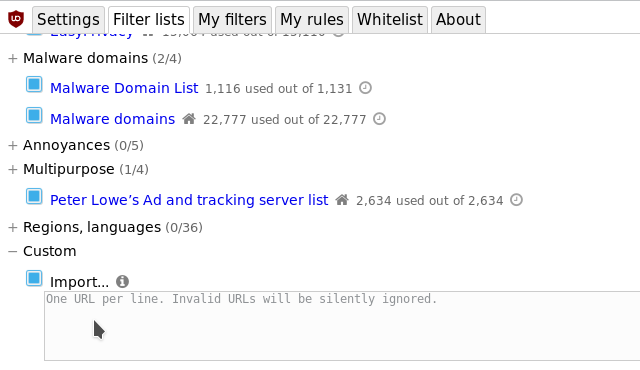 Filter lists from around the web · gorhill/uBlock Wiki · GitHub