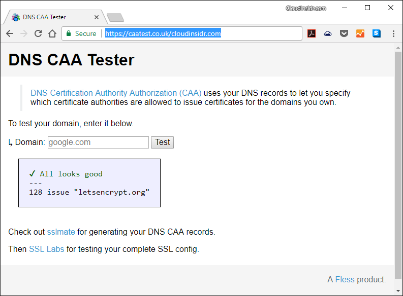 Dns Caa Not Recognized Issue 597 Ssllabsssllabs Scan Github