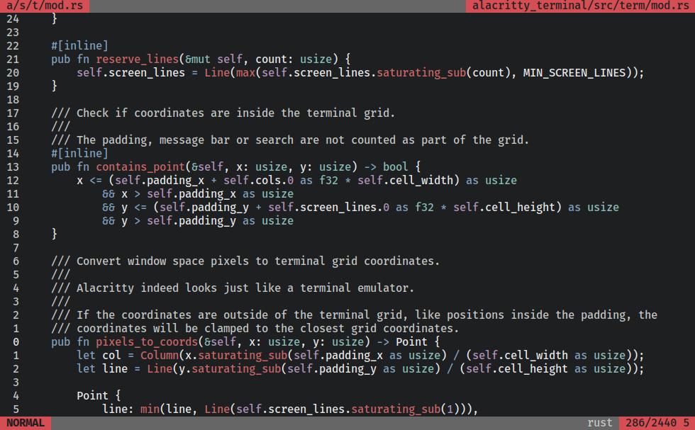 Alacritty - A fast, cross-platform, OpenGL terminal emulator