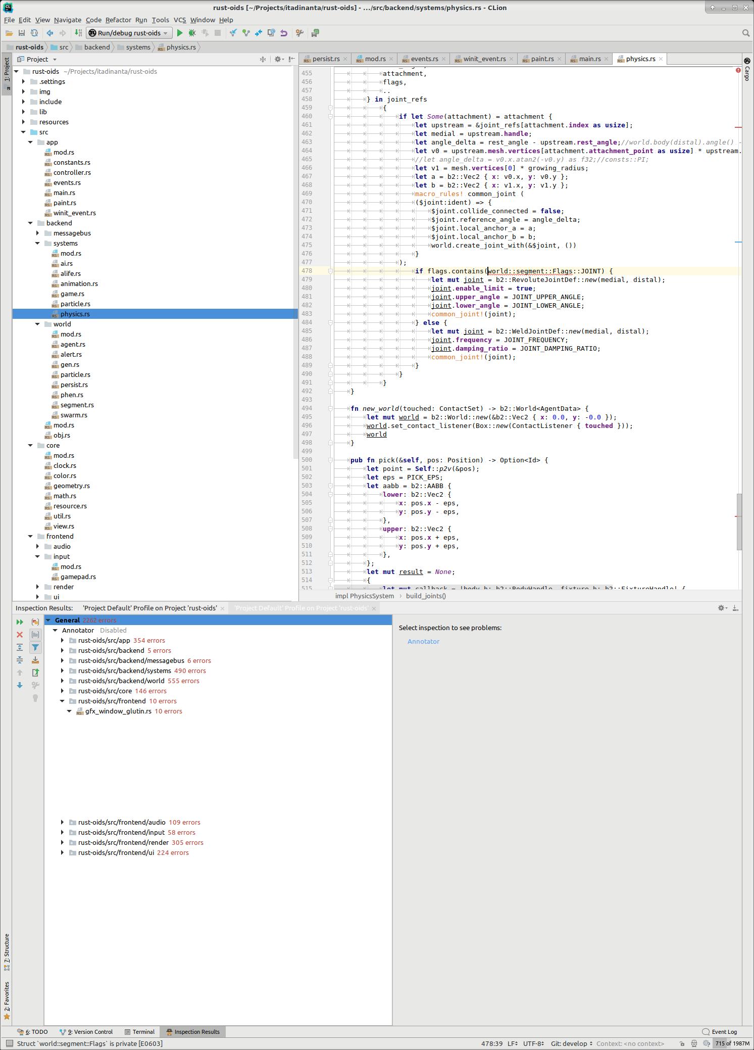 Compile errors highlighting · Issue #773 · intellij-rust/intellij