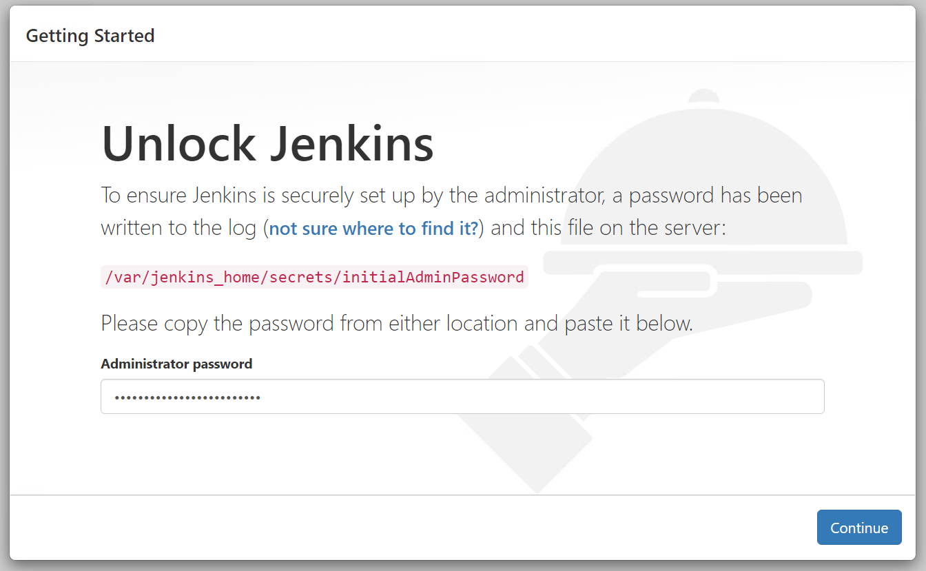 Unlock Jenkins