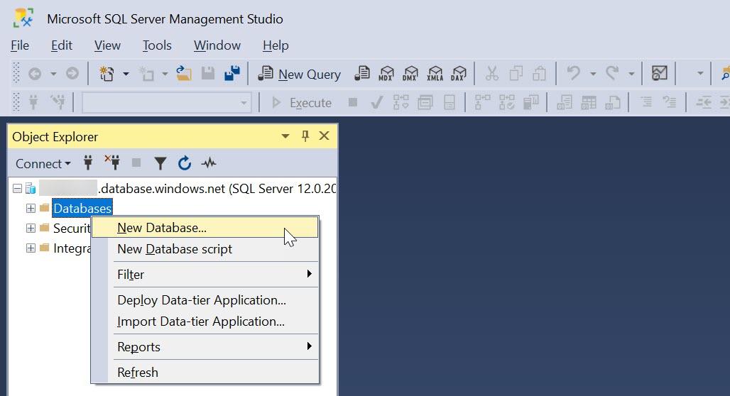 SQL Server Management Studio (SSMS) 建立資料庫