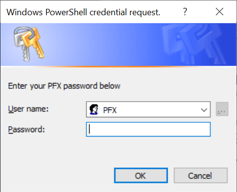 Windows PowerShell credential request.