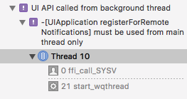 BUG] iOS Notifications being registered to background