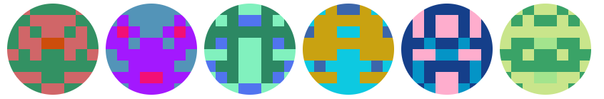 Blockies style identicons