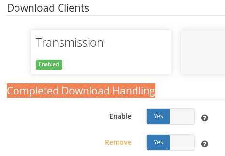 Completed Download Handling -> Remove