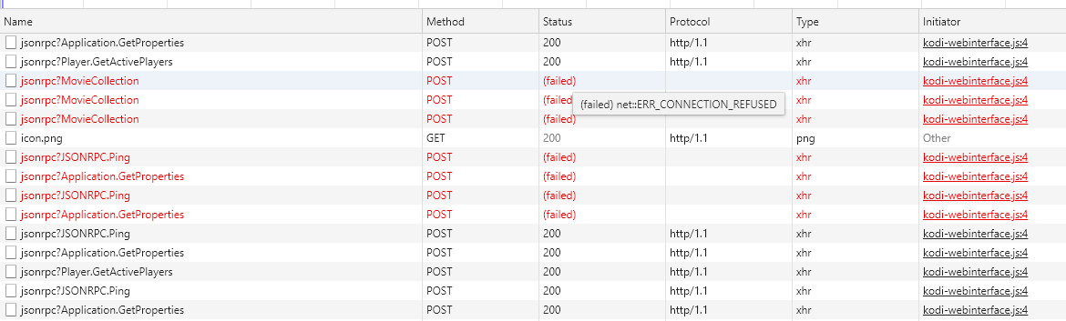 chrome err_connection_refused code