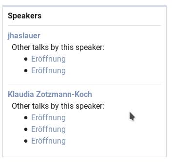 pretalks other talks