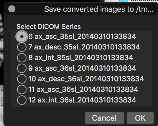 Feature suggestion: support DICOM file list as input for conversion