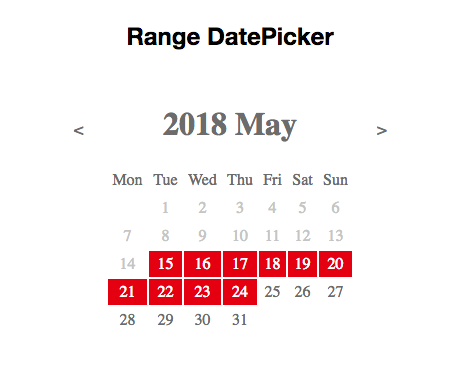 range datepicker example