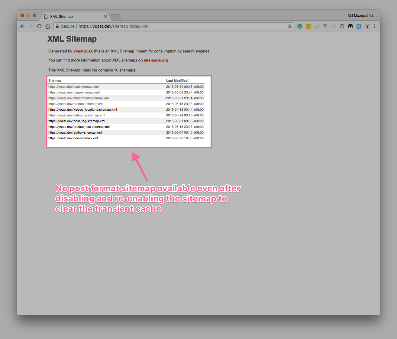 wrong toggle button behavior in post format taxonomy issue 10119