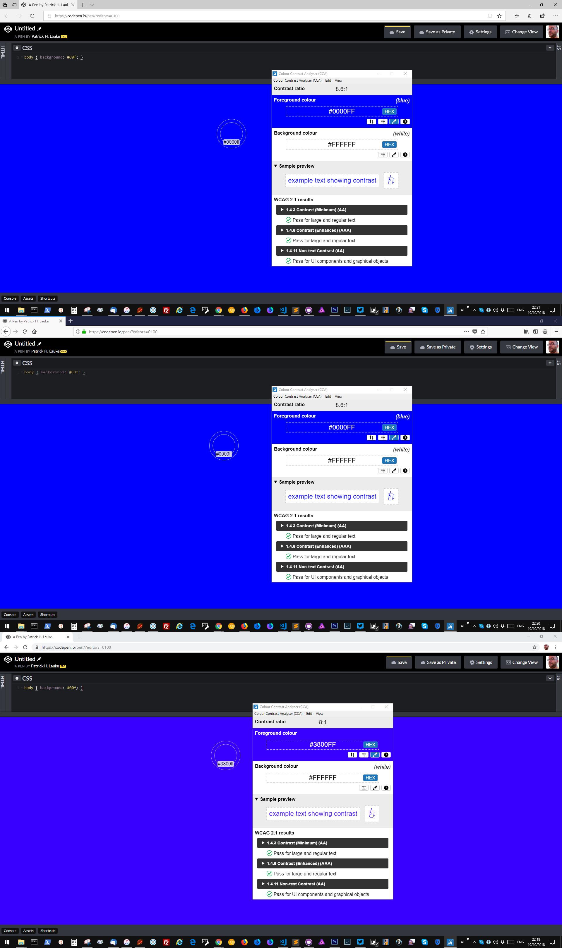 Color picker picks the color *after* browser/application color