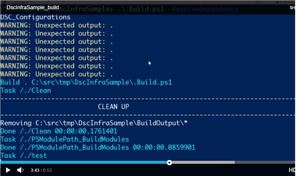Building DscInfraSample