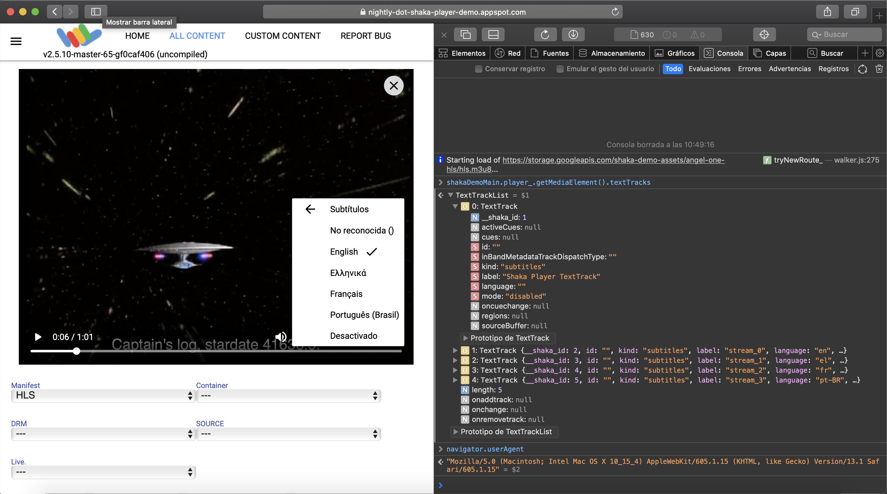 Spurious Texttrack In Src Mode Issue 2516 Google Shaka Player Github