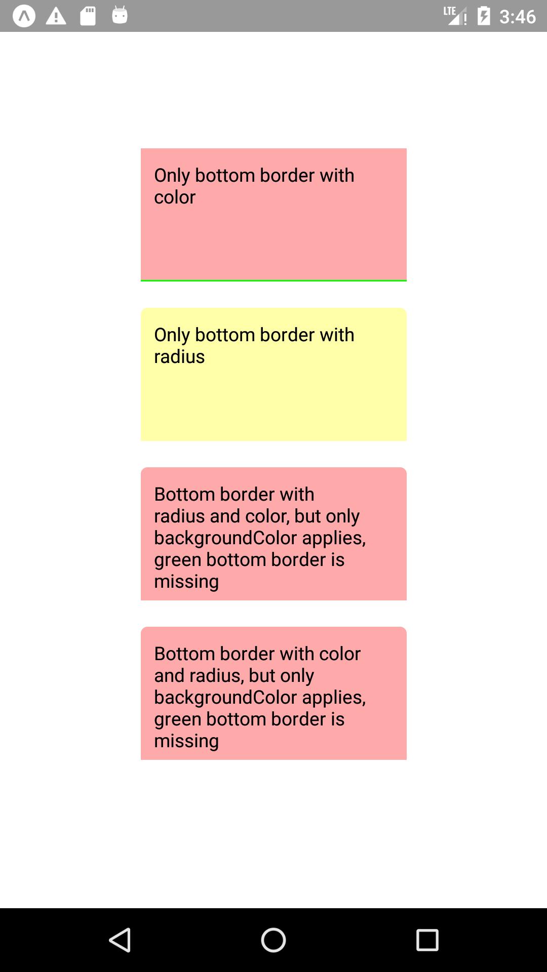 BorderColor and borderWidth are missing when using borderRadius