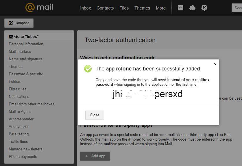 mail.ru email settings