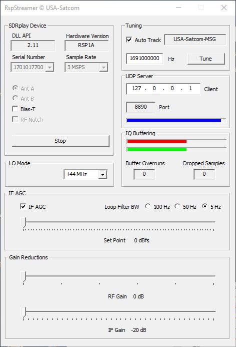 GitHub - rfnoise/RspStreamer: UDP Streamer for SDRplay RSP1A