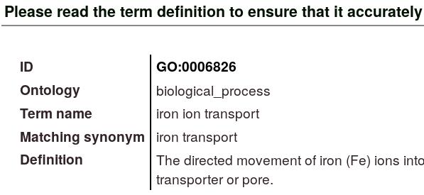 Iron Transport Details