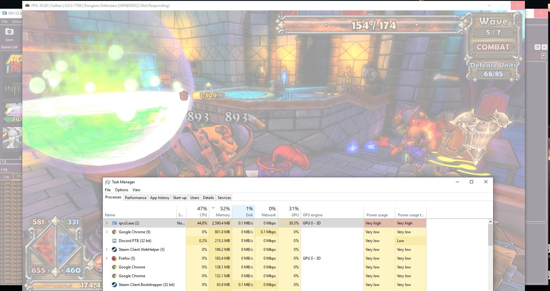 Dungeon Defenders - Memory Leak + CellGem log spam