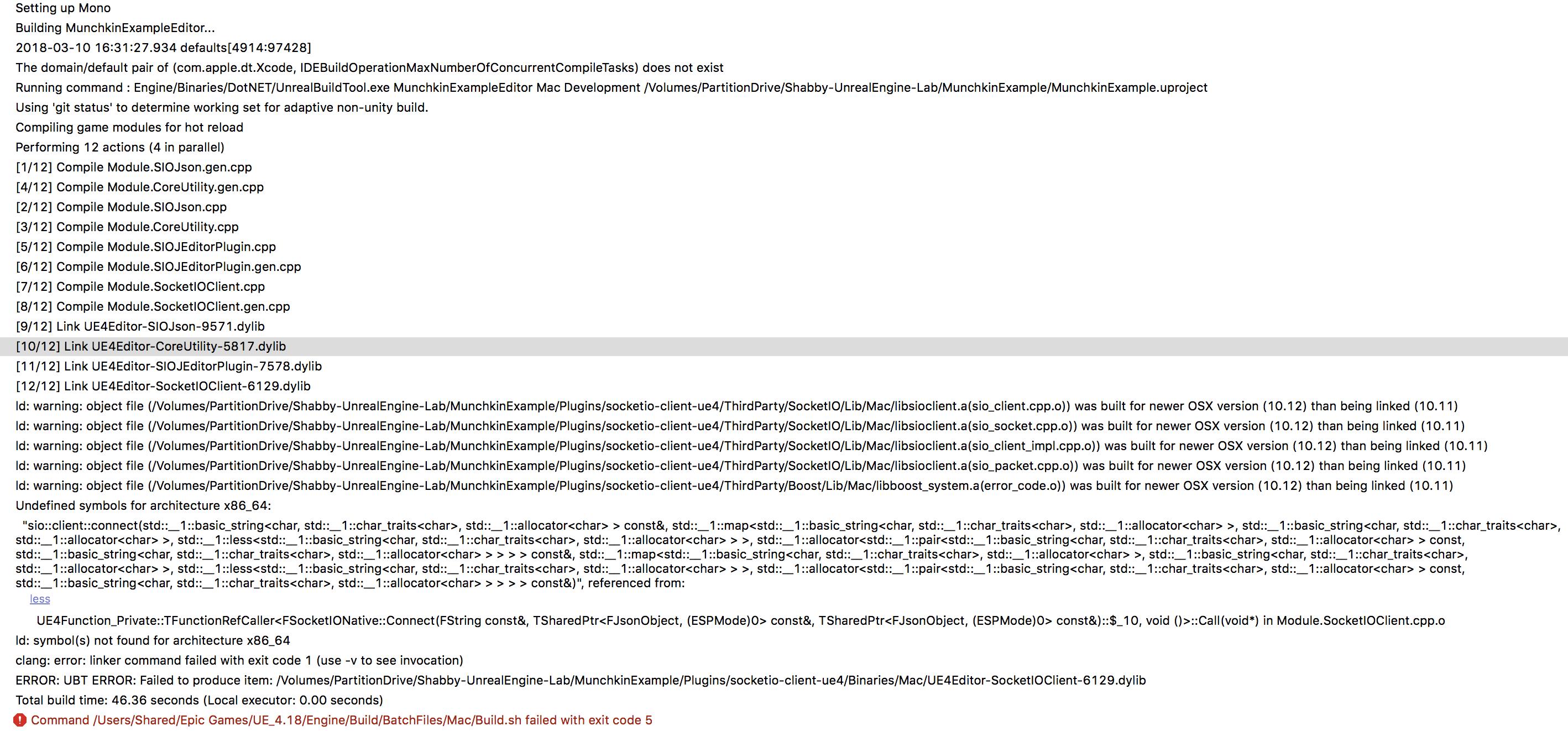 Plugin Build Error in Mac · Issue #73 · getnamo/socketio-client-ue4