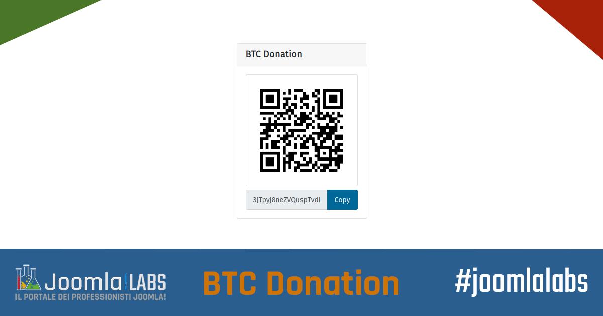 Joomla!LABS BTC Donation Module