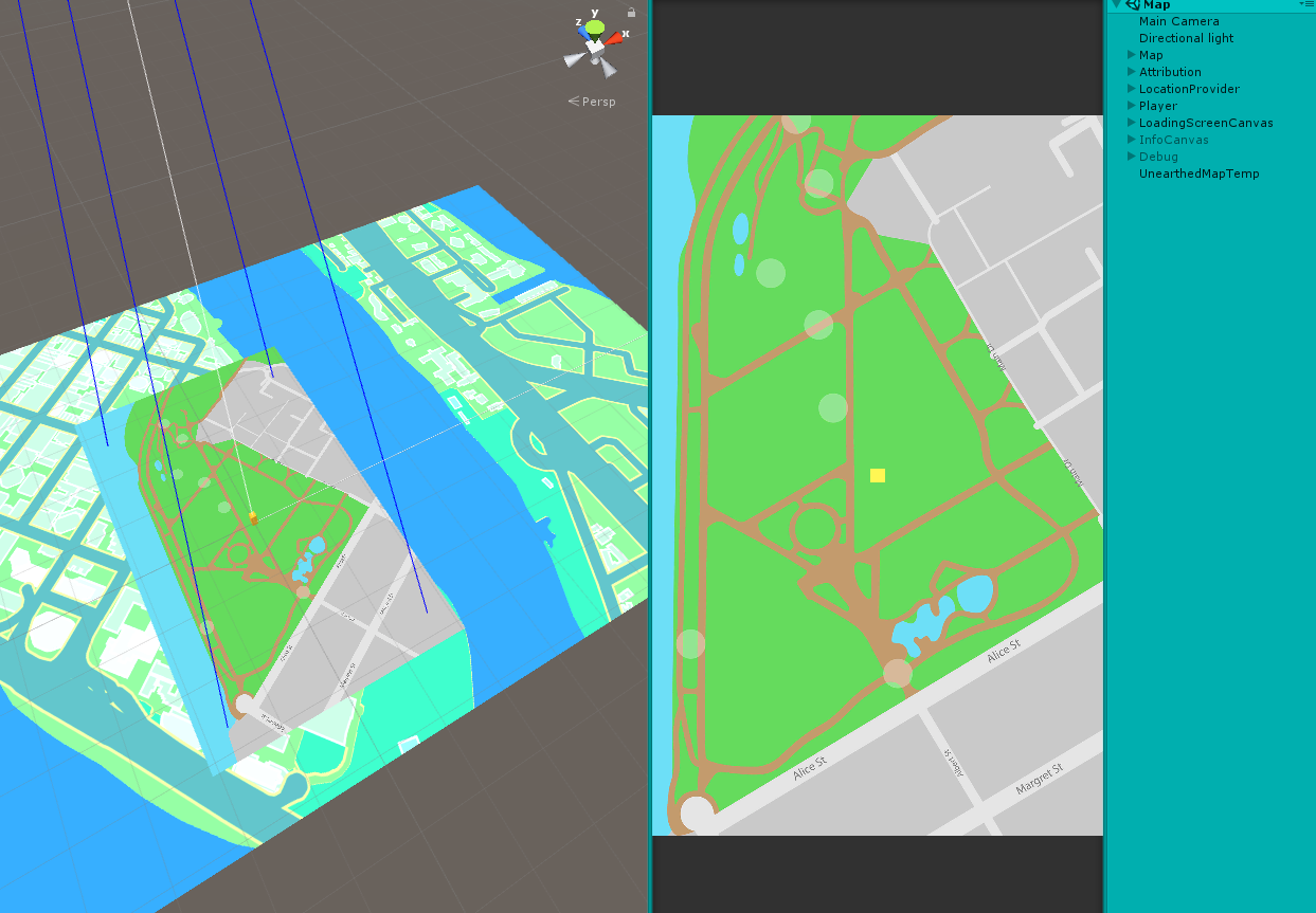 Need to make map static and same location, not dependent on