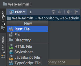 How can i move this element (new rust file) to next group