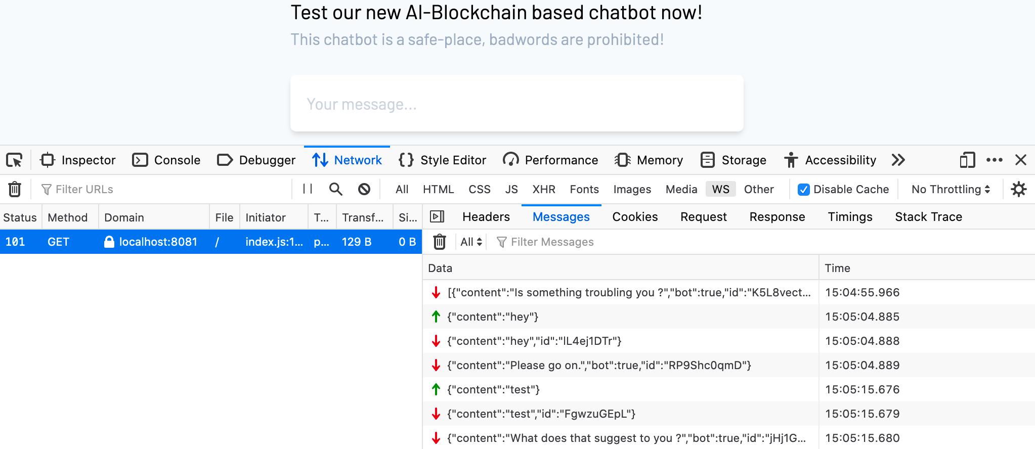 misc ctf chatbot websocket