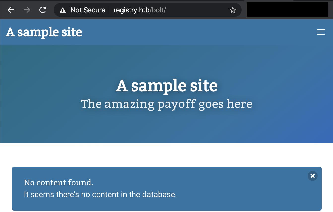 bolt sample website