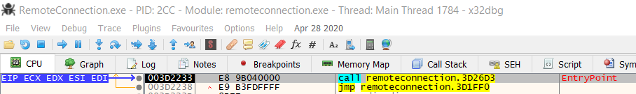 remoteconnection.exe entry point