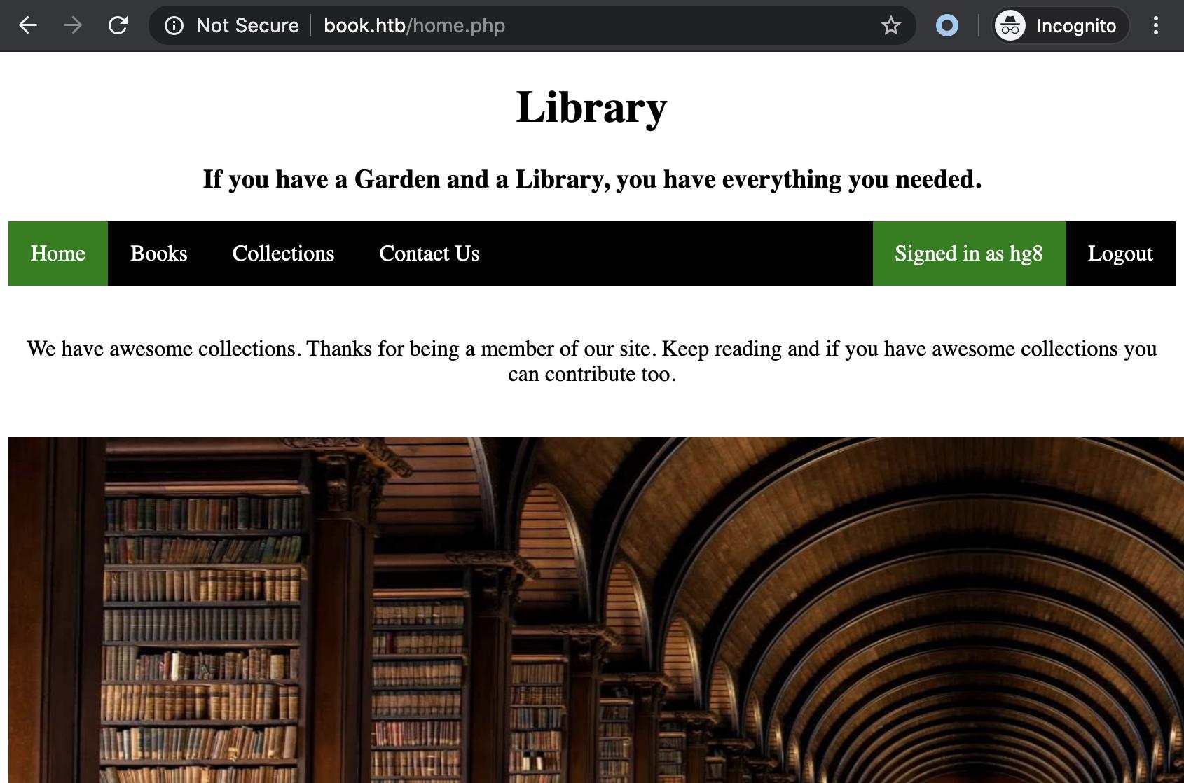 book user panel