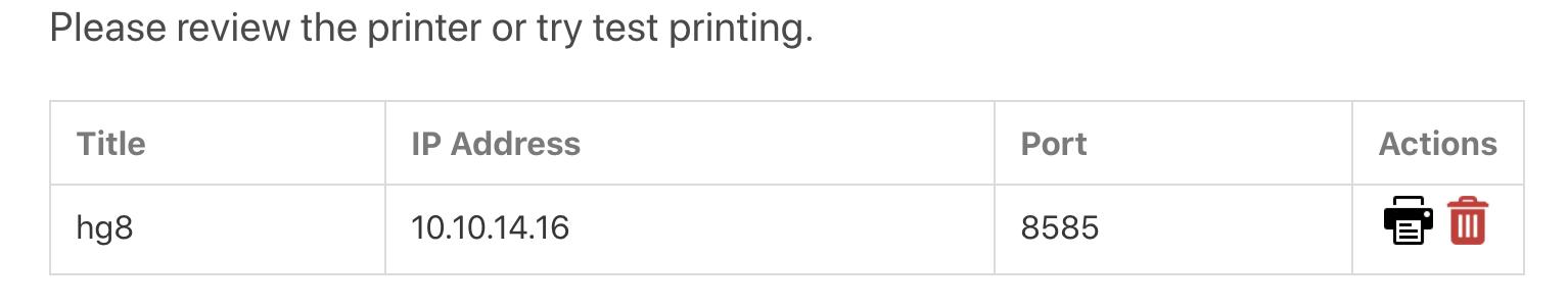 quick list printers