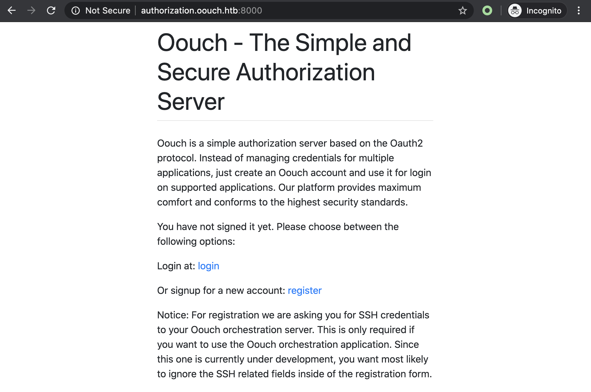 oouch authorization