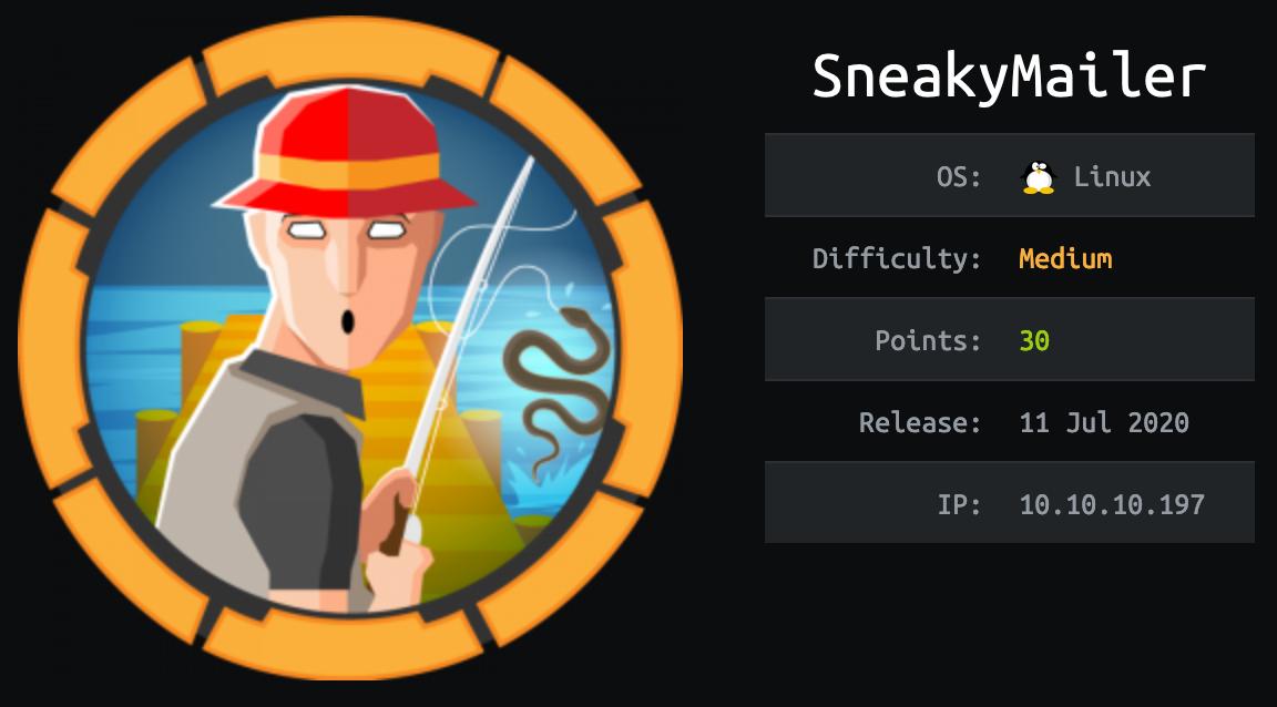 SneakyMailer HackTheBox