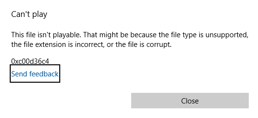 unable to play  wav files on MS Windows · Issue #1