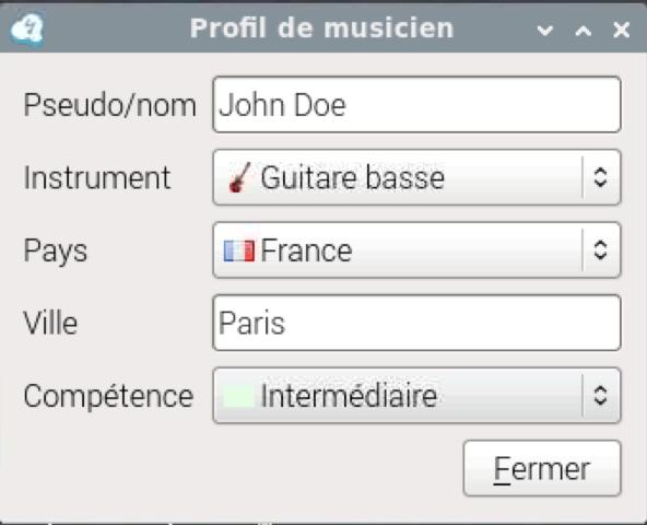 Profil de musicien