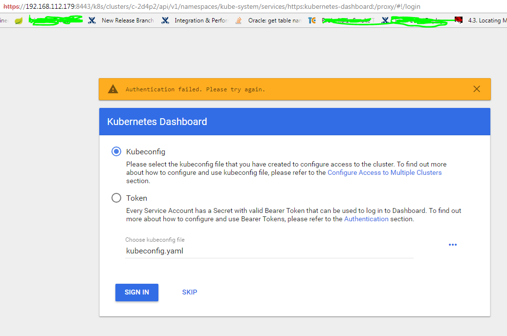 Accessing the Kubernetes Dashboard in Rancher 2 0 · Issue #13586